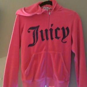 Juicy Couture rhinestones pink velour Medium